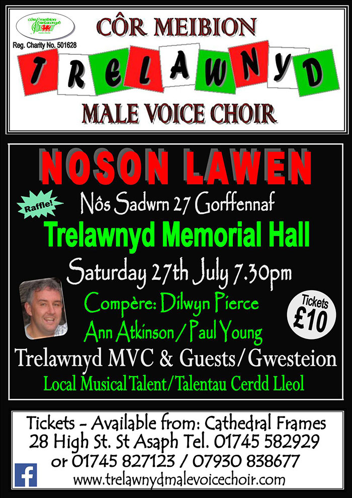 Noson Lawen at Trelawnyd Memorial Hall LL18 6DN